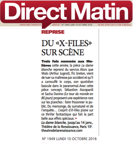 DIRECT MATIN : La dame blanche