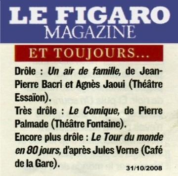 Figaro magazine le tour du monde en 80 jours for Telematin theatre
