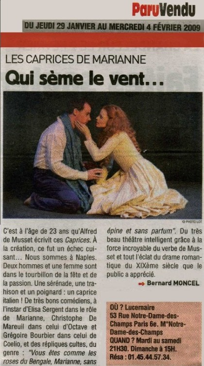 PARU VENDU : Caprices de Marianne