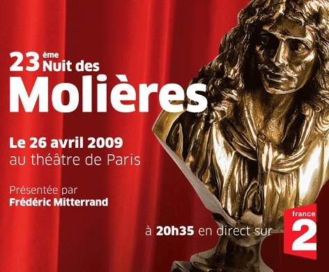MOLIERES 2009 : 26 avril 2009 sur France 2
