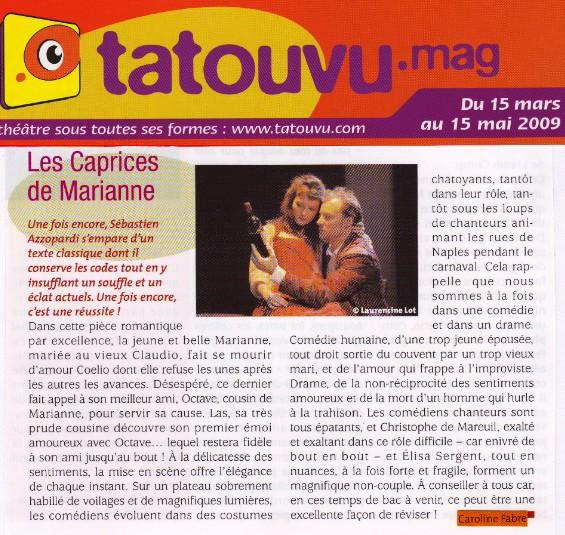 TATOUVU : Les Caprices de Marianne