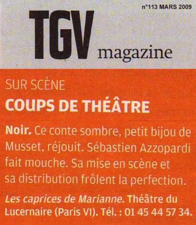 TGV MAGAZINE : Les caprices de Marianne