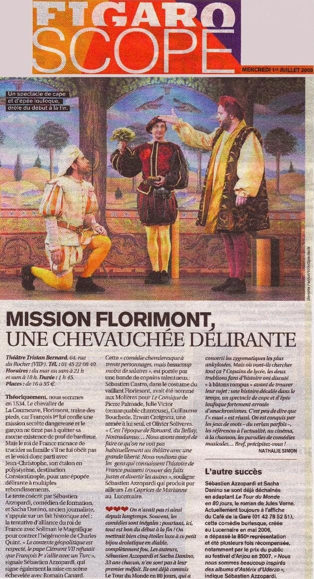FIGAROSCOPE : Mission Florimont