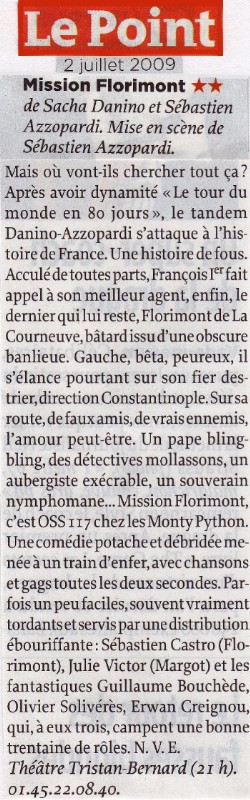LE POINT : Mission Florimont