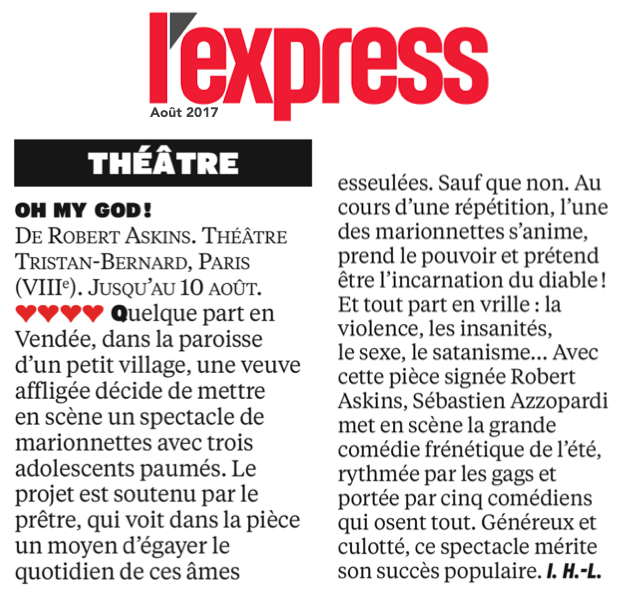 L'EXPRESS : Oh my God