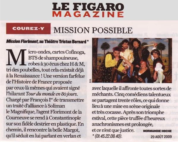 FIGARO MAGAZINE : Mission Florimont