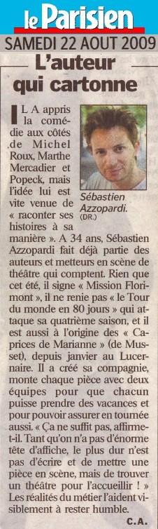 LE PARISIEN : Sébastien Azzopardi