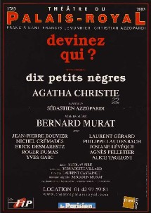 DEVINEZ QUI ? : Nomination MOLIERE 2004