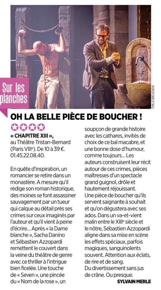 LE PARISIEN : Chapitre XIII