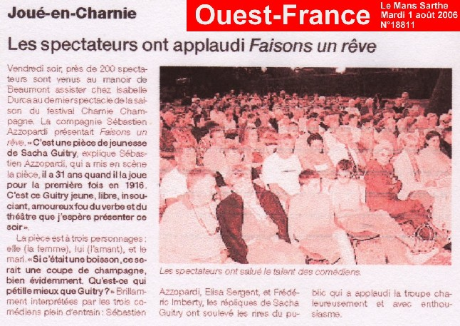 OUEST-FRANCE : Faisons un rêve