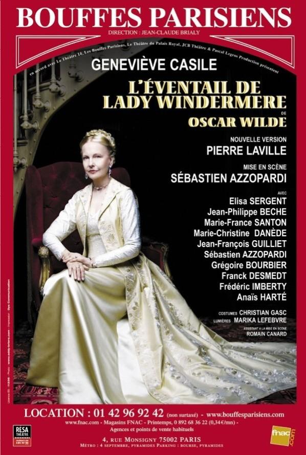 E.Brière : L'éventail de lady Windermere - Théâtre Bouffes Parisiens