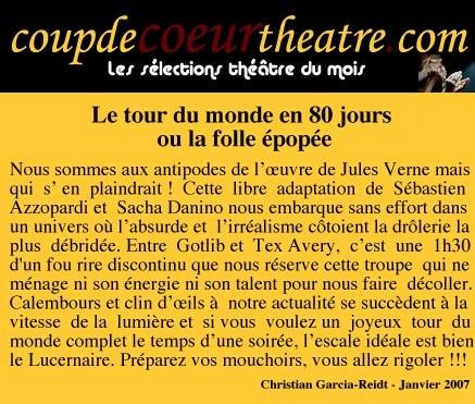 Coup de coeur theatre le tour du monde en 80 jours for Telematin theatre
