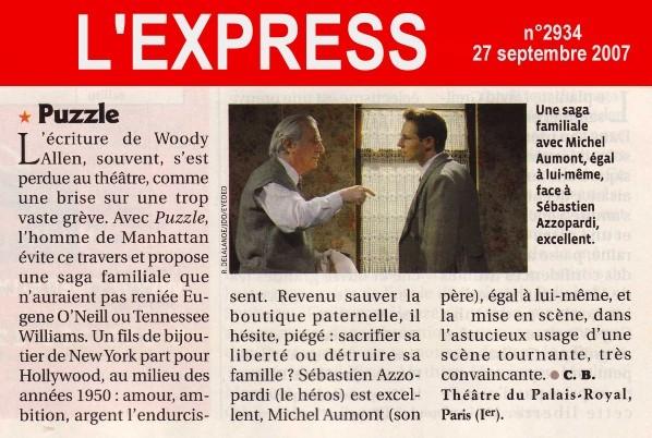 L'EXPRESS : Puzzle (de Woody Allen)
