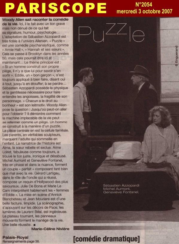PARISCOPE : Puzzle (de Woody Allen)