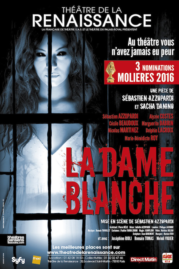 LA DAME BLANCHE : 3 nominations aux Molières 2016 !