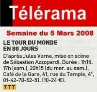 TELERAMA : Le tour du monde en 80 jours