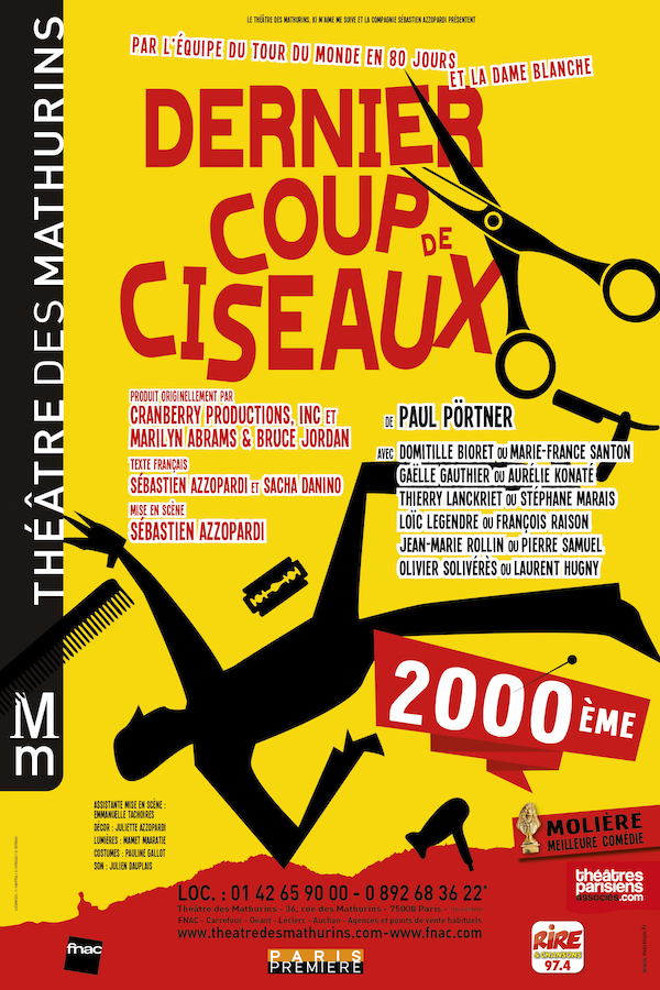 DERNIER COUP DE CISEAUX aux Mathurins, MOLIERES 2014 !
