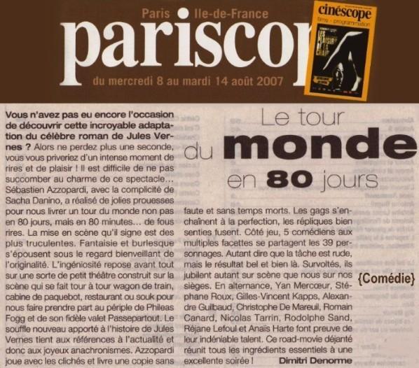 PARISCOPE : Le Tour du monde en 80 jours
