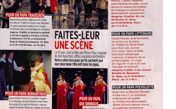 VERSION FEMINA : Coup de théâtre(s)