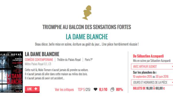 AU BALCON : La dame Blanche PRIX 2016