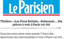 LE PARISIEN : Dernier coup de ciseaux